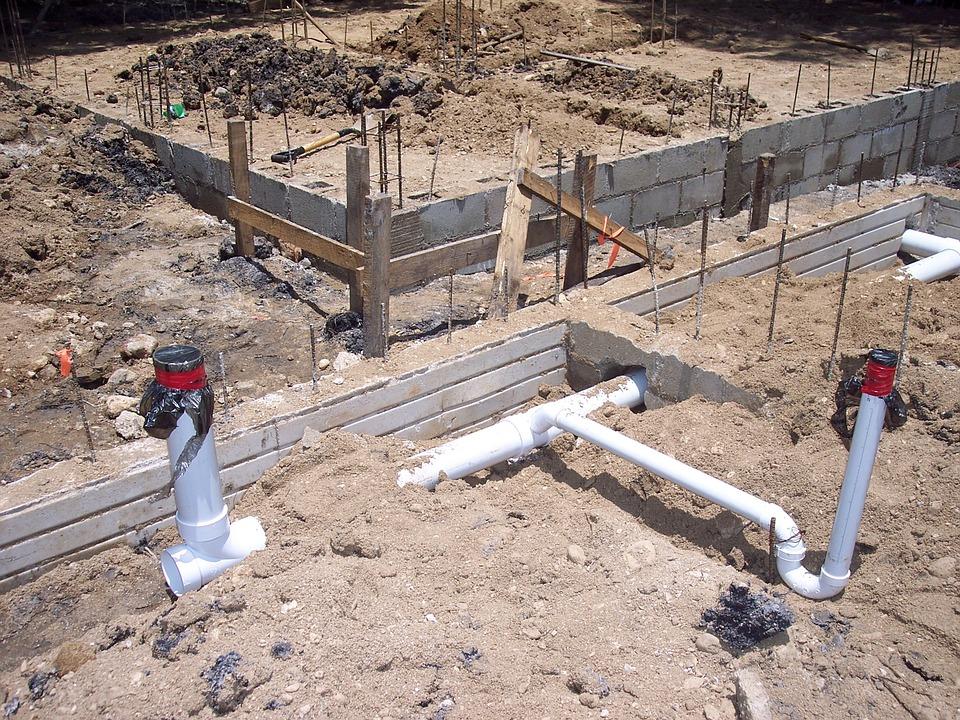 Les fondations d'une maison